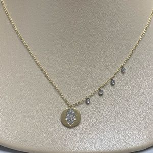 Jewelry - Ladies 14K TT Gold Diamond Hand of God Necklace